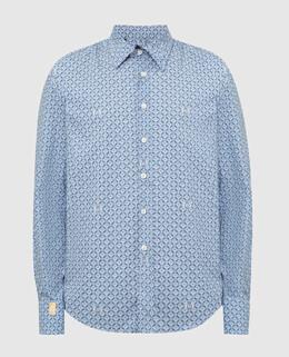 Синяя рубашка Billionaire 2300005678401