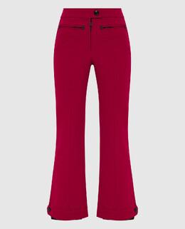 Малиновые лыжные брюки Moncler Grenoble 2300005617226