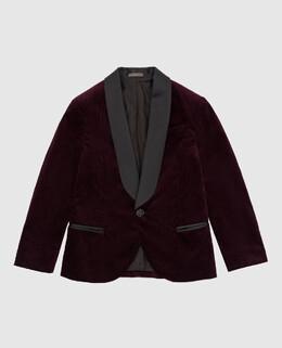 Детский бордовый вельветовый пиджак Brunello Cucinelli 2300005681425