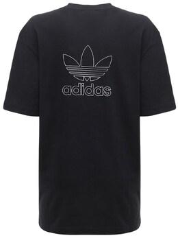 Футболка С Принтом Trefoil Adidas Originals 72IGZU034-QkxBQ0s1