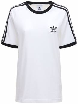 Футболка Из Хлопка 3-stripes Adidas Originals 72IGZU011-V0hJVEU1