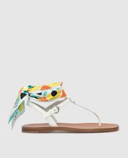 Белые кожаные сандалии Prada 2300005845520