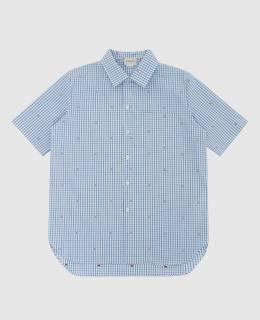 Детская голубая рубашка Gucci 2300005827281
