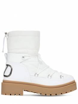 Трикотажные Ботинки Из Нейлона И Кожи 40мм Valentino Garavani 72IG70010-MDAx0
