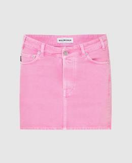 Розовая джинсовая юбка Balenciaga 2300005842789