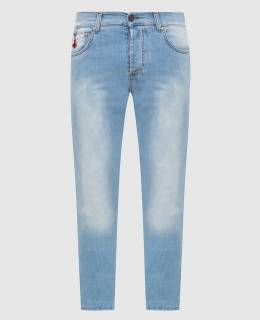 Голубые джинсы Isaia 2300005742720