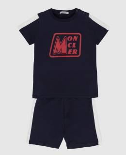 Детский темно-синий костюм Moncler Enfant 2300005853365