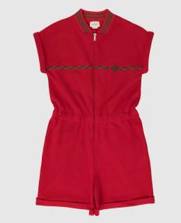 Детский красный комбинезон Gucci 2300005920098