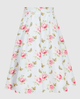 Голубая юбка из шелка Prada 2300005860899