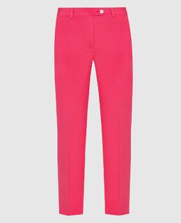 Коралловые брюки из шелка Kiton 2300005985738