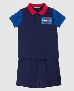 Детский темно-синий костюм Moncler Enfant 2300005968847