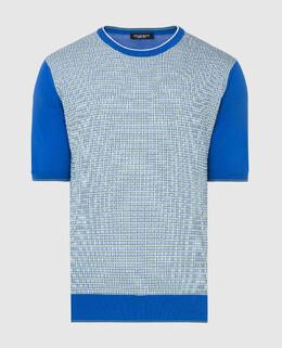 Синяя футболка Stefano Ricci 2300005771829
