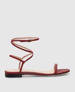 Бордовые кожаные сандалии Stuart Weitzman 2300005897062