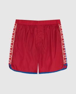 Детские красные плавательные шорты Gucci 2300005920814
