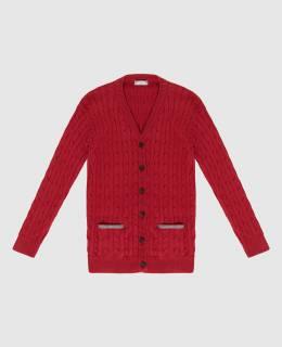 Детский красный кардиган Brunello Cucinelli 2300005943196