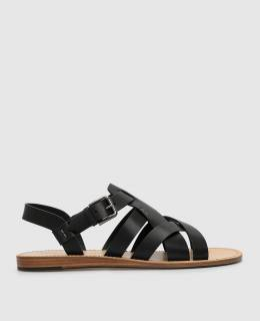 Черные кожаные сандалии Dolce&Gabbana 2300005966287