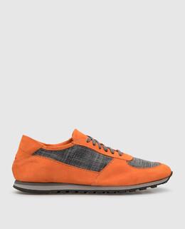 Оранжевые замшевые кроссовки Isaia 2300005902445