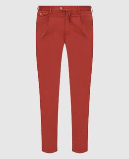 Терракотовые брюки Isaia 2300005901967