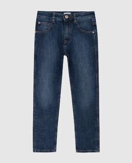 Детские синие джинсы Brunello Cucinelli 2300005947408