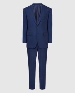 Темно-синий костюм из шерсти Stefano Ricci 2300005774219