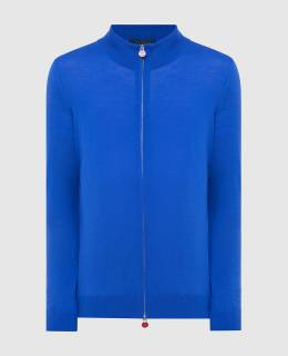 Синий кардиган из шерсти Kiton 2300005911386