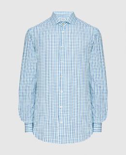 Голубая рубашка Kiton 2300005982904
