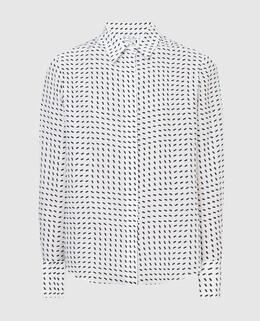 Белая блуза из шелка Loro Piana 2300005732936