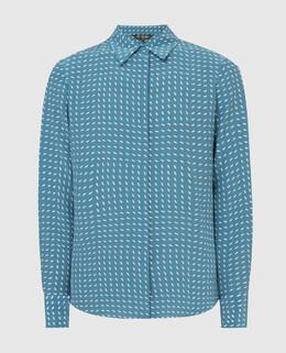 Голубая блуза из шелка Loro Piana 2300005779115
