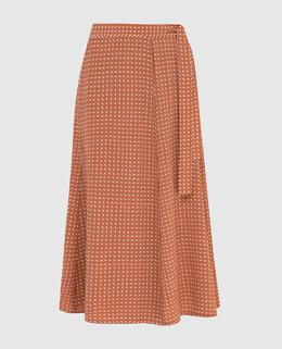 Светло-коричневая юбка из шелка Loro Piana 2300005893941