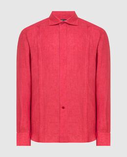 Красная рубашка из льна Stefano Ricci 2300005775933