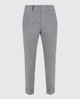 Серые брюки из шерсти Peserico 2300006055928