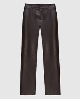 Черные кожаные брюки Simonetta Ravizza 2300006145483
