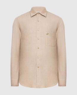 Бежевая рубашка Stefano Ricci 2300006162466