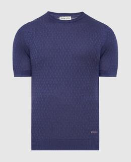 Фиолетовая футболка из шелка Castello D'Oro 2300006157110