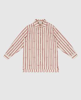 Детская светло-бежевая рубашка Gucci 2300006165917