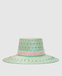 """Соломенная шляпа """"Nina"""" Yosuzi 2300006139741"""