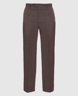 Бежевые брюки из шерсти Castello D'Oro 2300006155451