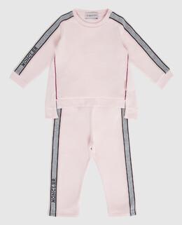 Детский розовый костюм Moncler Enfant 2300006213069