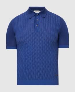 Темно-синее поло Castello D'Oro 2300006157349