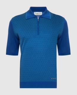 Синее поло из шелка Castello D'Oro 2300006156533