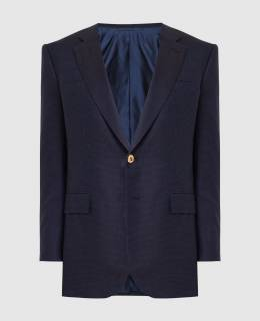 Темно-синий пиджак из кашемира и шелка Stefano Ricci 2300006232183