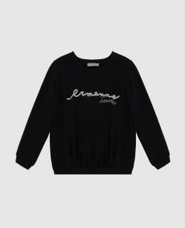 Детский черный свитшот Ermanno Scervino 2300006254208