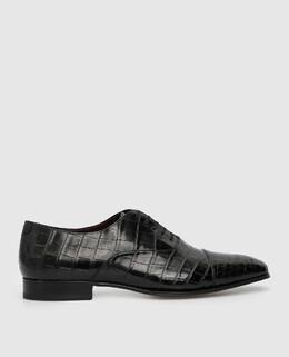 Черные оксфорды из крокодиловой кожи Stefano Ricci 2300006255632