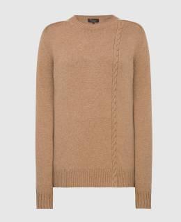 Темно-бежевый свитер из кашемира Loro Piana 2300006224898