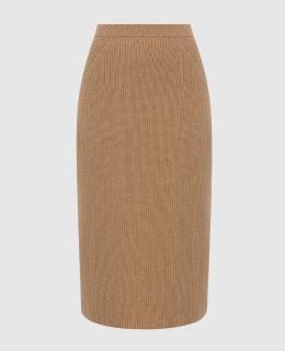 Темно-бежевая юбка из кашемира Loro Piana 2300006224911