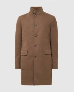 Коричневое пальто из кашемира Loro Piana 2300006224867