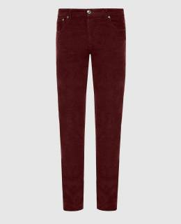 Бордовые вельветовые джинсы Isaia 2300006256578