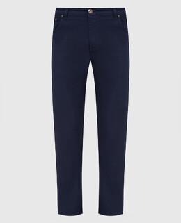 Темно-синие джинсы Isaia 2300006257049
