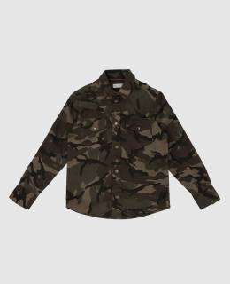 Детская зеленая рубашка Brunello Cucinelli 2300006287060
