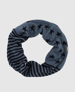 Детский синий шарф-хомут из шерсти Il Trenino 2300006285332